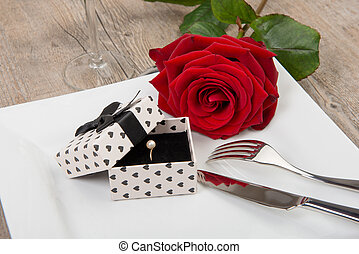 valentine day gift on a plate