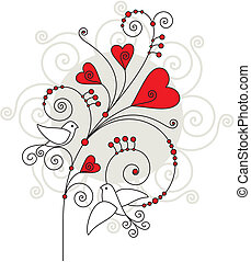 valentine day greeting card - vector valentine day greeting...