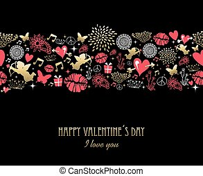 Valentine day greeting card pattern