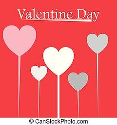 Valentine Day Heart Balloon Vector Image