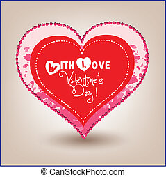 Valentine day heart in hearts