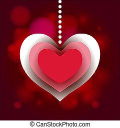 Valentine Day heart label love background