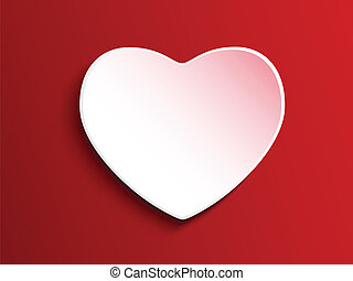 Vector - Valentine Day Heart on White Button