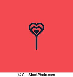 Valentine day heart shape sweet candy icon.