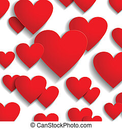 Valentine day hearts greeting background
