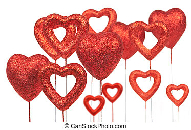 Valentine day hearts