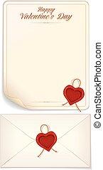 Valentine Day, Love Letter Print Template