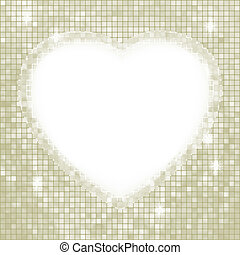 Valentine day mosaic heart card. EPS 8 vector file included