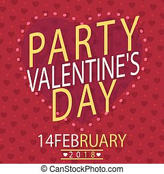 Valentine Day Party 14 FEB Vector Image