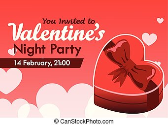 Valentine Day Party Invitation - Vector design Valentine's...