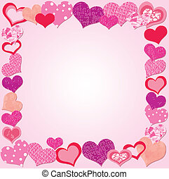 Valentine Day Pink frame - Valentine Day Pink frame with...