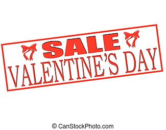 Valentine day sale - Rubber stamp with text Valentine day...