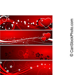 Valentine Day set - Abstraction. Can be used as a valentines