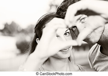 valentine day - valentine couple. portrait of girl and...
