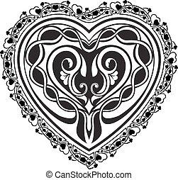 Valentine Day tatto heart
