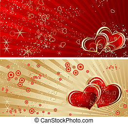 Valentine Day Theme - Abstract illustration for using as...
