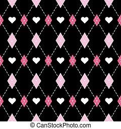 valentine, dayr, argyle., padrão, escocês, gaiola