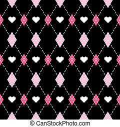 Valentine dayr Argyle. Pattern Scottish cage