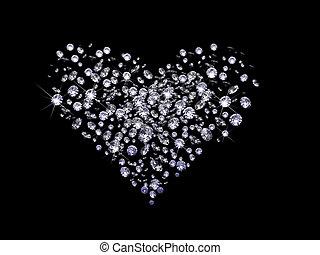 valentine, diamantes