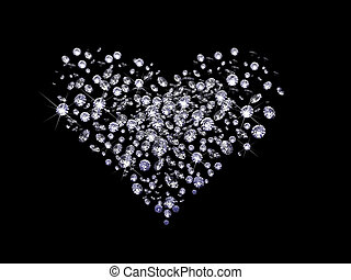 Valentine diamonds - a lot of diamonds, scattering across...