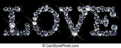 Valentine diamonds - a lot of diamonds, scattering across...