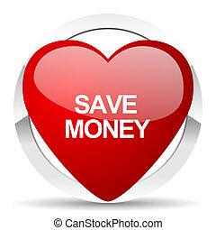 valentine, dinero, excepto, icono