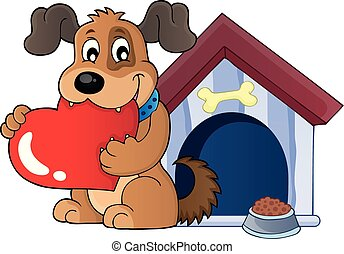 Valentine dog theme image 3 - eps10 vector illustration.