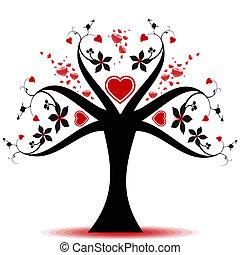 valentine, drzewo