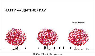 valentine, dzień, karta