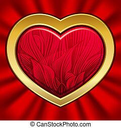 valentine, dzień, serce