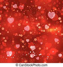 valentine dzień, tło, czerwony