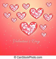 valentine, dzień, tło, serce