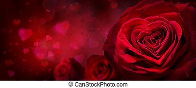 valentine, einladung, mit, herzen