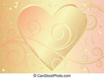 Valentine elegant background with heart (vector)