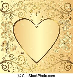 Valentine elegant golden background