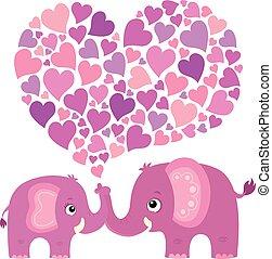 Valentine elephant theme