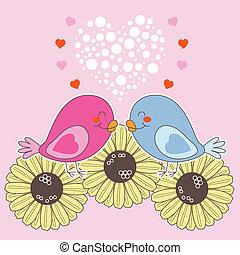 valentine, elsk fugle