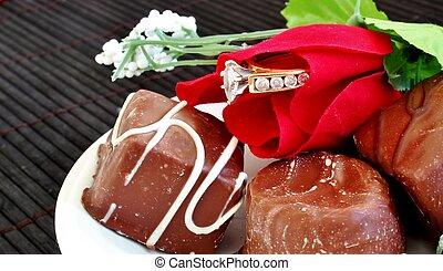Valentine engagement - close up