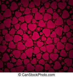 valentine, eps, hearts., tło, 8, dzień, czerwony