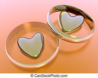 valentine, feriado, love., corações