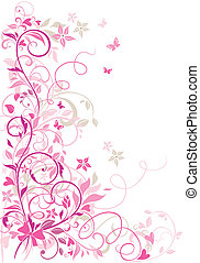 Valentine floral border