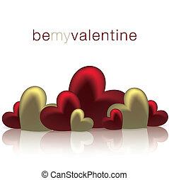 valentine, format., superficie, vettore, cuori, baluginante, giorno, scheda