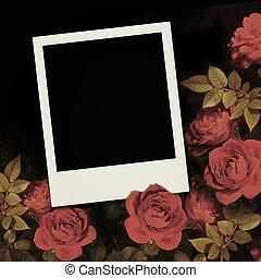 valentine, frame, dag, foto