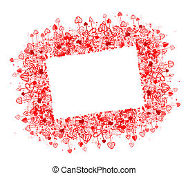 Valentine frame design, place for your photo or text
