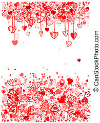 Valentine frame design with space for your text