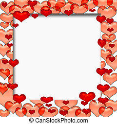 valentine frame - valentine colorful hearts frame with...