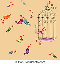 Valentine freedom bird love background