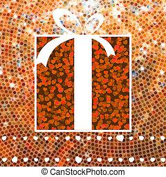 Valentine Gift over glitter mosaic. EPS 8