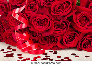 Valentine gift red roses