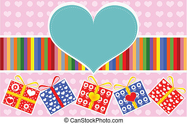 Valentine gifts packs design